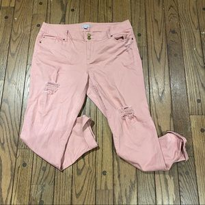 NWT New York & Company Distressed Cuffed Jeans
